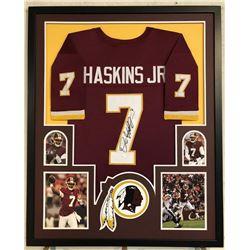 Dwayne Haskins Signed 34x42 Custom Framed Jersey (JSA COA)