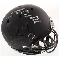 Johnny Manziel Signed Texas AM Aggies Full-Size Matte Black Helmet With Multiple Inscriptions (Becke