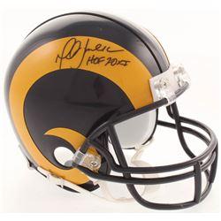 "Marshall Faulk Signed St. Louis Rams Throwback Mini Helmet Inscribed ""HOF 20XI"" (JSA COA)"