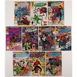 """Lot of (10) 1988-90 """"The Amazing Spider-Man"""" #296-342 Marvel Comic Books"""
