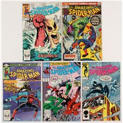 """Lot of (5) 1973-90 """"The Amazing Spider-Man"""" Marvel Comic Books with #120, #227, #251, #254,  #342"""