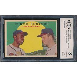 1959 Topps #212 Fence Busters Hank Aaron / Eddie Mathews (BCCG 8)