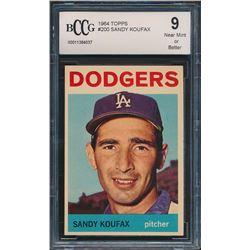 1964 Topps #200 Sandy Koufax (BCCG 9)