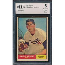 1961 Topps #344 Sandy Koufax (BCCG 8)