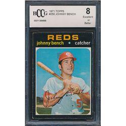 1971 Topps #250 Johnny Bench (BCCG 8)