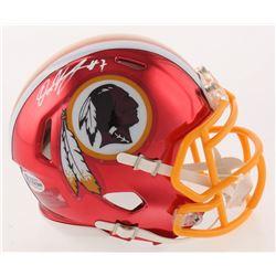 Dwayne Haskins Signed Washington Redskins Chrome Speed Mini Helmet (Beckett COA)