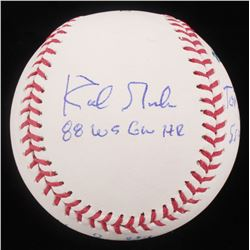 1988 Los Angeles Dodgers OML Baseball Signed by (4) with Tommy Lasorda, Orel Hershiser, Vin Scully