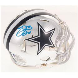 Emmitt Smith Signed Dallas Cowboys Chrome Speed Mini Helmet (Beckett COA)