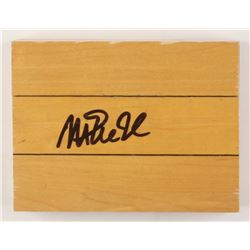 Magic Johnson Signed 6x6 Wood Floorboard Piece (PSA COA)