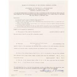 Ted Williams Signed Bank Document (PSA LOA)