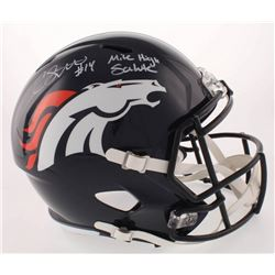 "Courtland Sutton Signed Denver Broncos Full-Size Speed Helmet Inscribed ""Mile High Salute"" (Beckett"