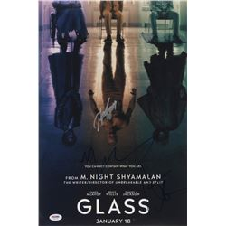 """Glass"" 12x18 Photo Cast-Signed by (4) with M. Night Shyamalan, Samuel L. Jackson, Sarah Paulson  An"