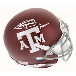 "Johnny Manziel Signed Texas AM Aggies Matte Maroon Mini Helmet Inscribed ""'12 Heisman"" (Beckett COA)"