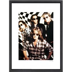 """Van Halen"" 16x20 Custom Framed Globe Hollywood Photo"