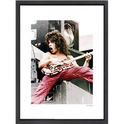 """Eddie Van Halen"" 24x30 Custom Framed Globe Hollywood Photo"