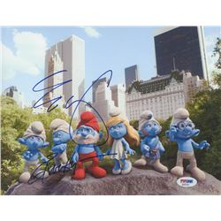 """George Lopez Signed """"The Smurfs"""" 8x10 Photo Inscribed """"Grouchy"""" (PSA COA)"""