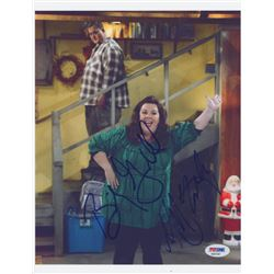 "Billy Gardell  Melissa McCarthy Signed ""Mike  Molly"" 8x10 Photo (PSA COA)"