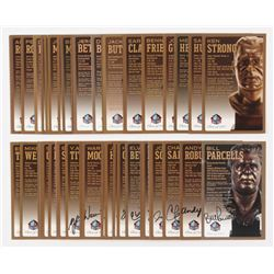 Lot of (46) LE Bronze Bust Football Hall of Fame Postcards with (16) Signed with Warren Moon, Joe Ha
