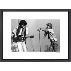 """The Rolling Stones"" 24x30 Custom Framed Globe Hollywood Photo"