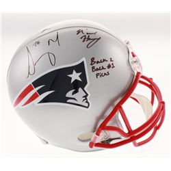 "N'Keal Harry  Sony Michel Signed New England Patriots Full-Size Helmet Inscribed ""Back 2 Back #1 Pic"