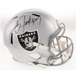 Bo Jackson Signed Los Angeles Raiders Full-Size Speed Helmet (Beckett COA)