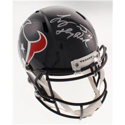 "Tyrann Mathieu Signed Houston Texans Full-Size Speed Helmet Inscribed ""Honey Badger"" (Beckett COA)"