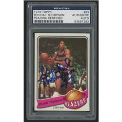 Mychal Thompson Signed 1979-80 Topps RC (PSA Encapsulated)