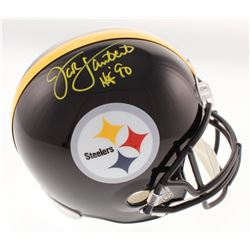 "Jack Lambert Signed Pittsburgh Steelers Full-Size Helmet Inscribed ""HOF 90"" (Beckett COA)"