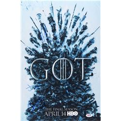 """""""Game of Thrones"""" 12x18 Photo Cast-Signed by (4) with Maisie Williams, Jacob Anderson, Nikolaj Coste"""