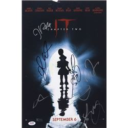 """""""IT Chapter Two"""" 12x18 Photo Cast-Signed by (7) with James McAvoy, Bill Hader, Isaiah Mustafa, Jessi"""