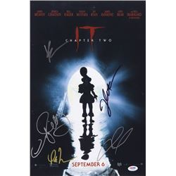 """""""IT Chapter Two"""" 12x18 Photo Cast-Signed by (5) with James McAvoy, Bill Hader, Isaiah Mustafa, Jessi"""