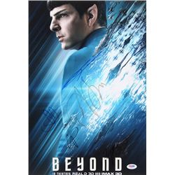 """""""Star Trek Beyond"""" 12x18 Photo Cast-Signed by (5) with J. J. Abrams, Zachary Quinto, Justin Lin, Sof"""