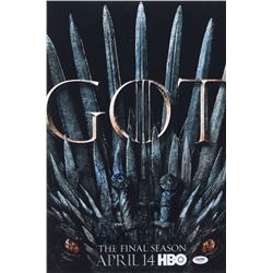 "Maisie Williams, Jacob Anderson  John Bradley Signed ""Game of Thrones"" 12x18 Photo (PSA LOA)"