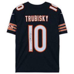 Mitchell Trubisky Signed Chicago Bears NFL 100 Jersey (Fanatics Hologram)