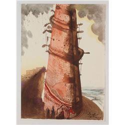 "Salvador Dali LE ""Vol. 2 The Biblia Sacra: Turris Babel 1967 Rizzoli Editions Italy"" 14x19 Lithograp"