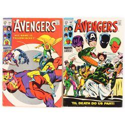 """Lot of (2) 1968-69 """"Avengers"""" #59  #60 1st Series Marvel Comic Books"""