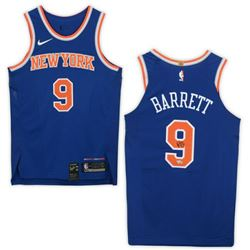 R.J. Barrett Signed New York Knicks Jersey (Fanatics Hologram)