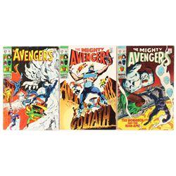 """Lot of (3) 1969 """"Avengers"""" #61, #62,  #63 1st Series Marvel Comic Books"""