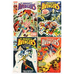 """Lot of (4) 1969 """"Avengers"""" #64-67 1st Series Marvel Comic Books"""