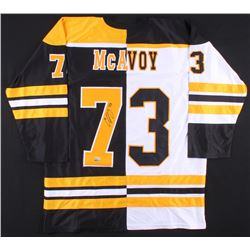 Charlie McAvoy Signed Jersey (McAvoy COA)