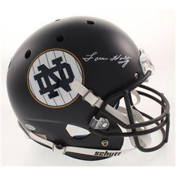 Lou Holtz Signed Notre Dame Fighting Irish Full-Size Helmet (Beckett COA  Fanatics Hologram)