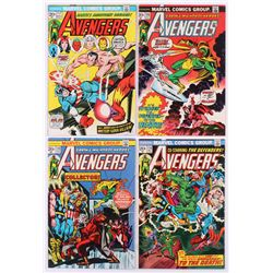 """Lot of (4) 1973-74 """"The Avengers"""" 1st Series Marvel Comic Books with #116, #117, #118  #119"""