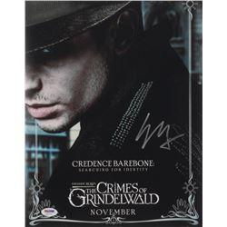 "Ezra Miller Signed ""Fantastic Beasts: The Crimes of Grindelwaldi"" 11x14 Photo (PSA COA)"