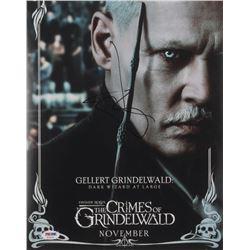 "Johnny Depp Signed ""Fantastic Beasts: The Crimes of Grindelwald"" 11x14 Photo (PSA COA)"