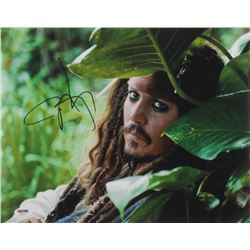 "Johnny Depp Signed ""Pirates of the Caribbean"" 11x14 Photo (PSA COA)"