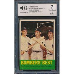 1963 Topps #173 Bomber's Best / Tom Tresh / Mickey Mantle / Bobby Richardson (BCCG 7)