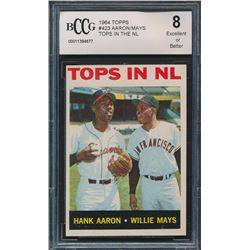 1964 Topps #423 Tops in NL / Hank Aaron / Willie Mays (BCCG 8)