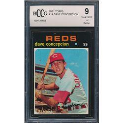 1971 Topps #14 Dave Concepcion RC (BCCG 9)