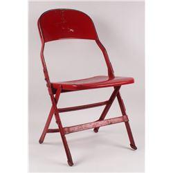 Genuine Joe Louis Arena Metal Folding Chair (DC Sports COA)