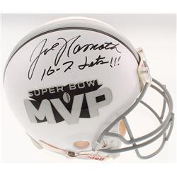 "Joe Namath Signed Super Bowl MVP Full-Size Authentic On-Field Helmet Inscribed ""16-7 Jets!!!"" (JSA C"